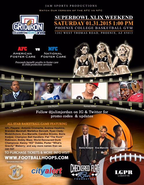 Gridiron Celebrity Hoops Game During Super Bowl Weekend ...